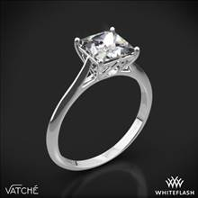 18k White Gold Vatche 1505 Inara Solitaire Engagement Ring for Princess | Whiteflash