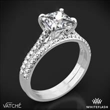 18k White Gold Vatche 1506 Inara Pave Diamond Wedding Set for Princess | Whiteflash