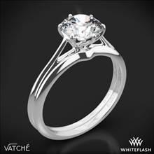 18k White Gold Vatche 1513 Felicity Solitaire Wedding Set | Whiteflash