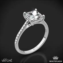 18k White Gold Vatche 1517 Aurora Diamond Engagement Ring for Princess | Whiteflash
