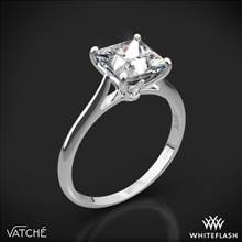 18k White Gold Vatche 1520 Lyric Solitaire Engagement Ring for Princess | Whiteflash