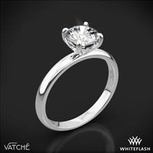18k White Gold Vatche 1532 Charis Solitaire Engagement Ring | Whiteflash