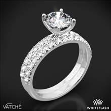 18k White Gold Vatche 1533 Charis Pave Diamond Wedding Set | Whiteflash