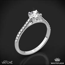18k White Gold Vatche 1535 Melody Diamond Engagement Ring | Whiteflash