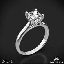 18k White Gold Vatche 188 Caroline Solitaire Engagement Ring for Princess | Whiteflash