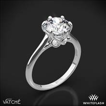 18k White Gold Vatche 191 Swan Solitaire Engagement Ring | Whiteflash