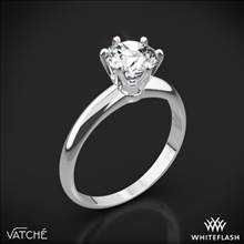 18k White Gold Vatche U-113 6-Prong Solitaire Engagement Ring for 2ct and Larger Diamonds | Whiteflash