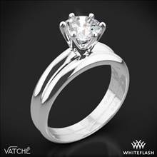 18k White Gold Vatche U-113 6-Prong Solitaire Wedding Set | Whiteflash