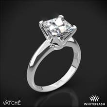 18k White Gold Vatche U-114 5th Avenue Solitaire Engagement Ring for Princess   Whiteflash