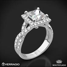 18k White Gold Verragio ENG-0379 Square Halo Diamond Engagement Ring | Whiteflash