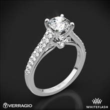 18k White Gold Verragio ENG-0382R Double Pave Diamond Engagement Ring | Whiteflash