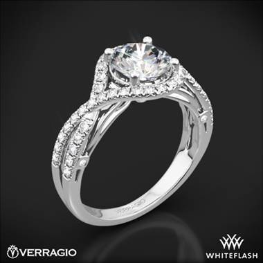 18k White Gold Verragio ENG-0405 4 Prong Bypass Diamond Engagement Ring
