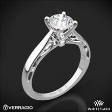 18k White Gold Verragio ENG-0409R Cathedral Solitaire Engagement Ring | Whiteflash