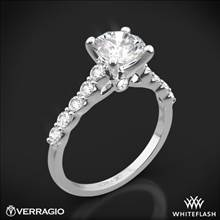 18k White Gold Verragio ENG-0410SR Shared-Prong Cathedral Diamond Engagement Ring | Whiteflash