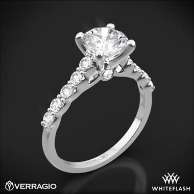18k White Gold Verragio ENG-0410SR Shared-Prong Cathedral Diamond Engagement Ring