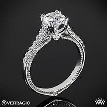 18k White Gold Verragio ENG-0414R Dual Claw Diamond Engagement Ring | Whiteflash