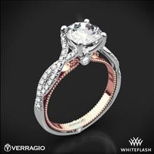 18k White Gold Verragio ENG-0421R-2T Twisted Two-Tone Diamond Engagement Ring | Whiteflash
