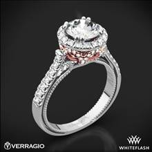 18k White Gold Verragio ENG-0433R-2T Couture Two-Tone Diamond Engagement Ring | Whiteflash