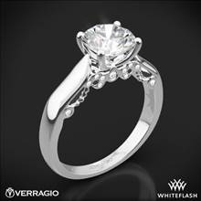 18k White Gold Verragio INS-7022 4 Prong Knife-Edge Solitaire Engagement Ring | Whiteflash