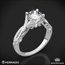 18k White Gold Verragio INS-7050R 4 Prong Twisted Shank Diamond Engagement Ring | Whiteflash
