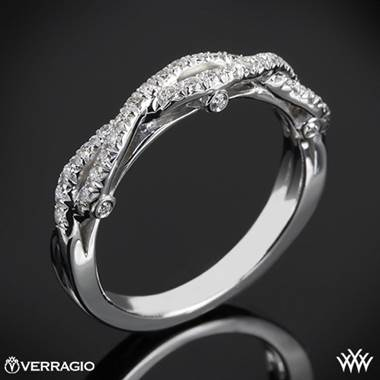 18k White Gold Verragio INS-7050W Braided Diamond Wedding Ring