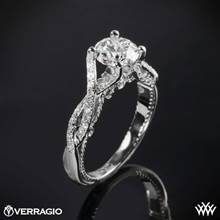 18k White Gold Verragio INS-7060 Intertwined Diamond Engagement Ring | Whiteflash