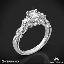 18k White Gold Verragio INS-7074R Braided 3 Stone Engagement Ring | Whiteflash