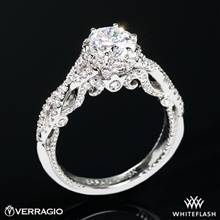 18k White Gold Verragio INS-7091R Insignia Diamond Engagement Ring | Whiteflash