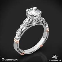 18k White Gold Verragio Parisian D-100 Diamond Engagement Ring with Rose Gold Wraps | Whiteflash