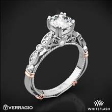 18k White Gold Verragio Parisian D-100 Diamond Engagement Ring with Rose Gold Wraps | Whiteflash