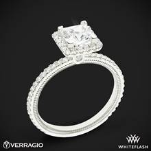 18k White Gold Verragio Tradition TR120HP Diamond Princess Halo Engagement Ring | Whiteflash