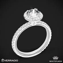 18k White Gold Verragio Tradition TR150HR Diamond Round Halo Engagement Ring | Whiteflash