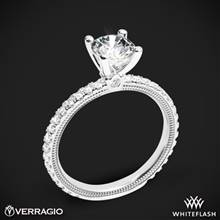 18k White Gold Verragio Tradition TR150R4 Diamond 4 Prong Engagement Ring | Whiteflash