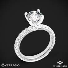 18k White Gold Verragio Tradition TR210R4 Diamond 4 Prong Engagement Ring | Whiteflash
