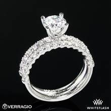18k White Gold Verragio V-950 Renaissance Diamond Wedding Set   Whiteflash