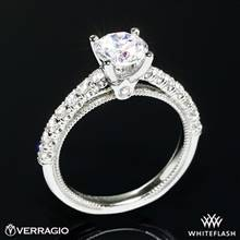 18k White Gold Verragio V-951-R2.0 Renaissance Diamond Engagement Ring | Whiteflash