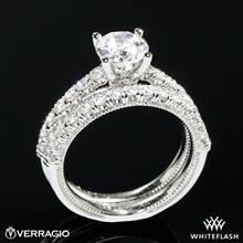 18k White Gold Verragio V-951 Renaissance Diamond Wedding Set | Whiteflash