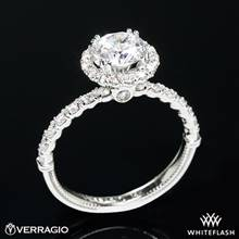 18k White Gold Verragio V-954-R1.8 Renaissance Diamond Halo Engagement Ring | Whiteflash