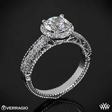 18k White Gold Verragio Venetian Centro AFN-5002R-1 Diamond Engagement Ring | Whiteflash