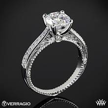 18k White Gold Verragio Venetian Centro AFN-5047RD-1 Diamond Engagement Ring | Whiteflash