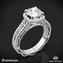 18k White Gold Verragio Venetian Lace AFN-5007CU-4 Diamond Engagement Ring | Whiteflash