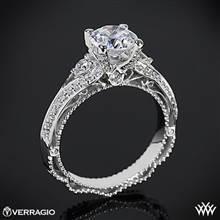 18k White Gold Verragio Venetian Lace AFN-5021R-4 Diamond Engagement Ring | Whiteflash