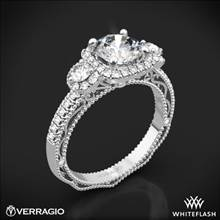 18k White Gold Verragio Venetian Lace AFN-5025CU-4 Three Stone Engagement Ring | Whiteflash