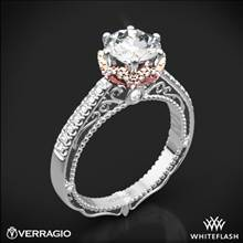18k White Gold Verragio Venetian Lace AFN-5052-4 Two Tone Diamond Engagement Ring | Whiteflash