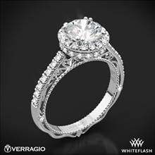 18k White Gold Verragio Venetian Lace AFN-5053R-4 Halo Diamond Engagement Ring | Whiteflash