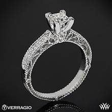 18k White Gold Verragio Venetian Lido AFN-5001P-2 Diamond Engagement Ring for Princess Cut Diamonds | Whiteflash
