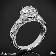 18k White Gold Verragio Venetian Lido AFN-5005R-2 Halo Diamond Engagement Ring | Whiteflash