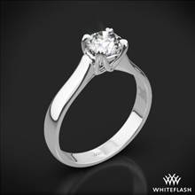 18k White Gold W-Prong Solitaire Engagement Ring | Whiteflash