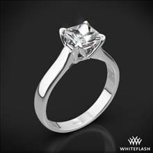 18k White Gold W-Prong Solitaire Engagement Ring for Princess | Whiteflash