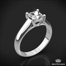 18k White Gold X-Prong Solitaire Engagement Ring for Princess | Whiteflash